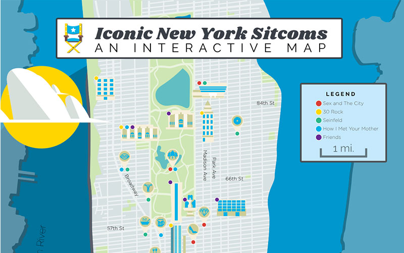 Interactive Map Of New York City.Instagrammable Places In Nyc New York Film Locations Citypass