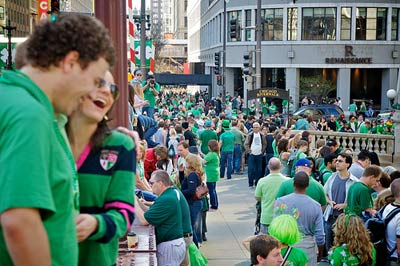 St. Patricks Day in Chicago